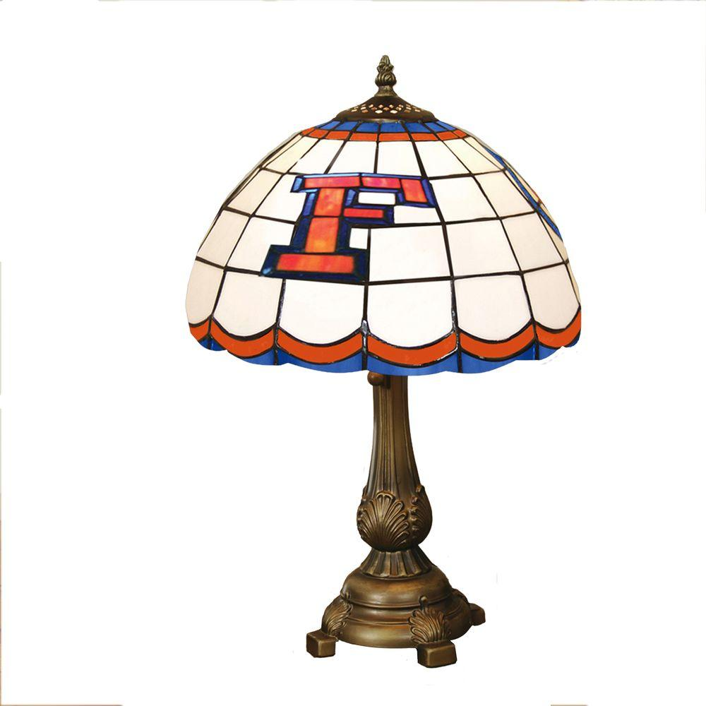 The Memory Company NCAA Florida Gators Stained Glass Tiffany Table Lamp-DISCONTINUED