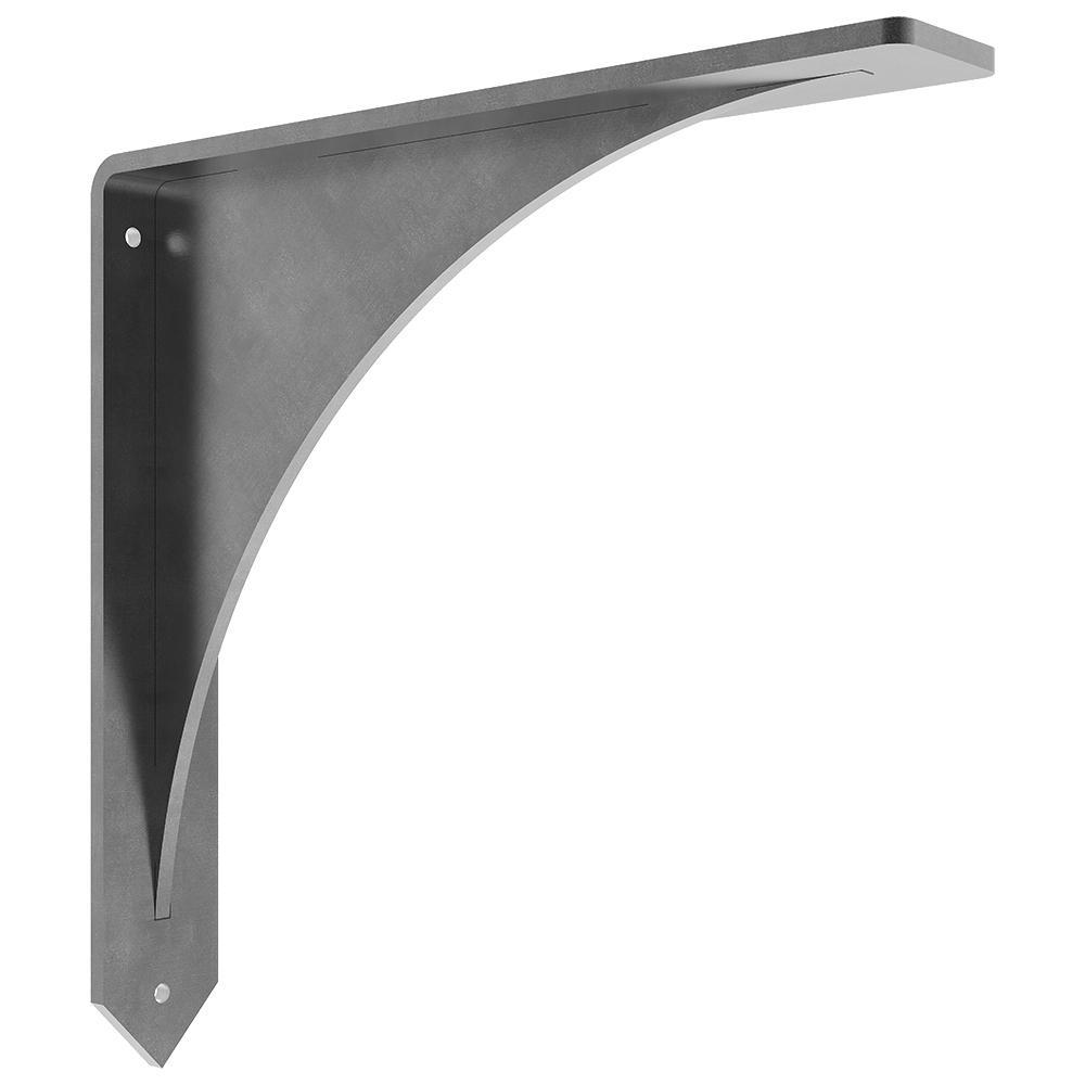 Arrowwood 12 in. x 12 in. Steel Low Profile Countertop Bracket