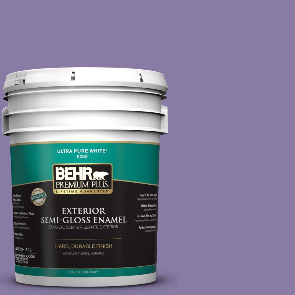 BEHR Premium Plus 5-gal. #M560-5 Second Pour Semi-Gloss Enamel Exterior Paint