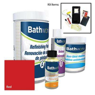 8 in. x 8 in. x 12 in. Red DIY Bathtub and Tile Refinishing Kit with Slip Guard