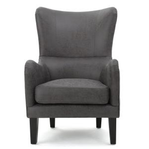 Sensational Noble House Lorenzo Studded Slate Fabric High Back Club Dailytribune Chair Design For Home Dailytribuneorg