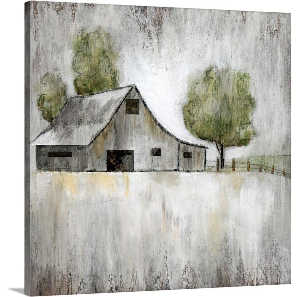 ''Weathered Barn'' by Nan F Canvas Wall Art