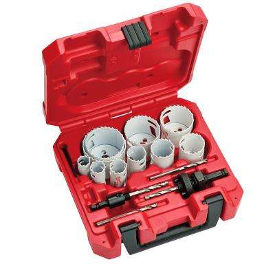 Hole Dozer General Purpose Bi-Metal Hole Saw Set (15-Piece)