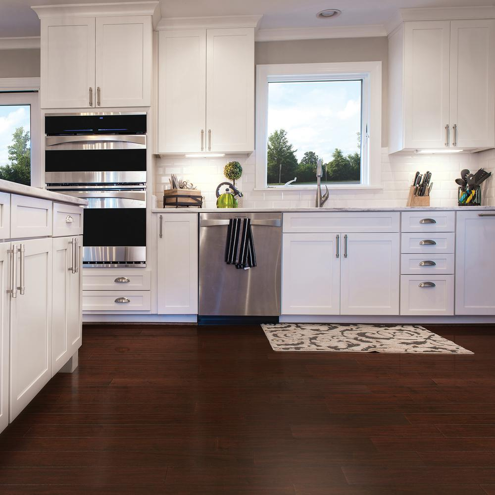Heritage Mill Scraped Maple Coffee 1/2 in. Thick x 5 in. Wide x Random  Length Engineered Hardwood Flooring (31 sq. ft. / case)