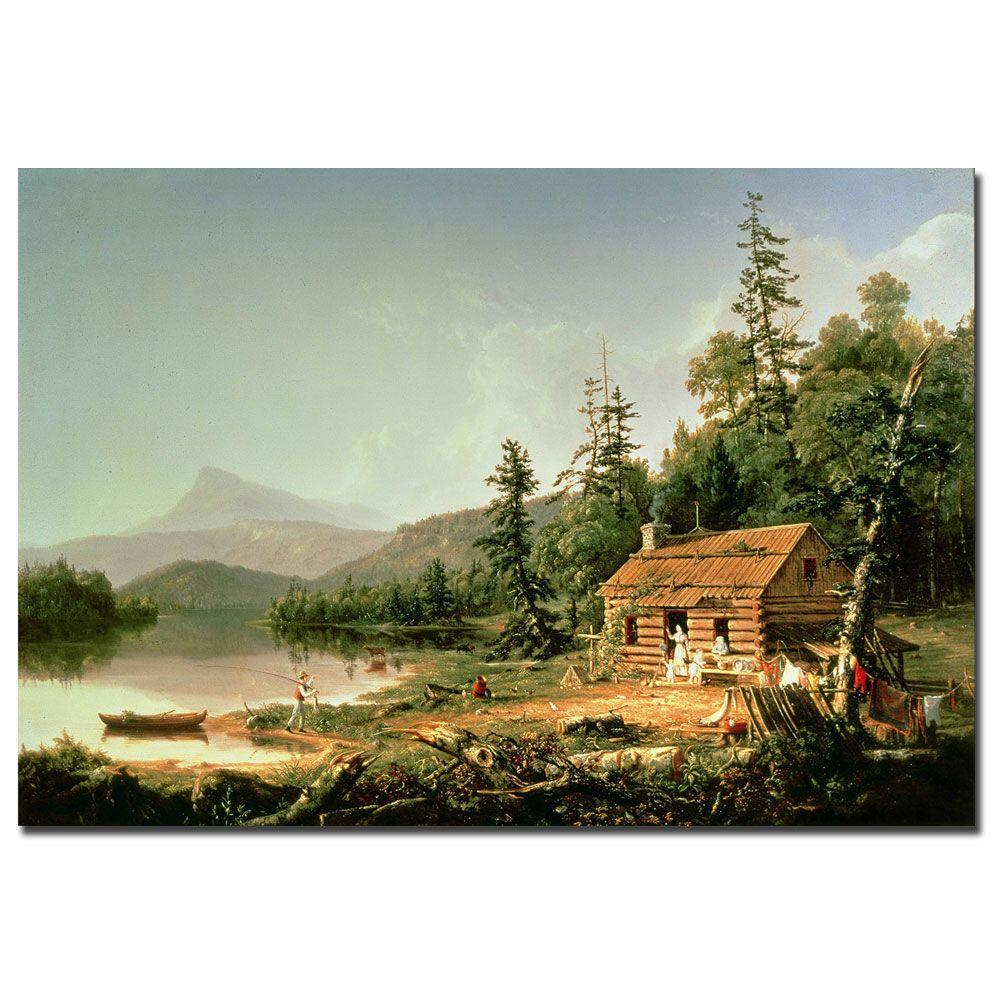 22 in. x 32 in. Home in the Woods 1847 Canvas