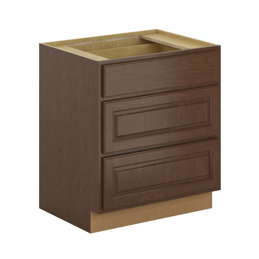Madison Base Cabinets In Cognac: Hampton Bay Madison Assembled 30x34.5x24 In. Pots And Pans