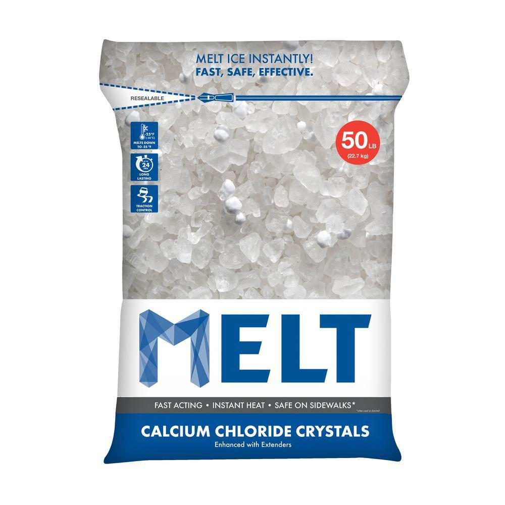 50 lb. Re-Sealable Bag Calcium Chloride Crystals Ice Melter