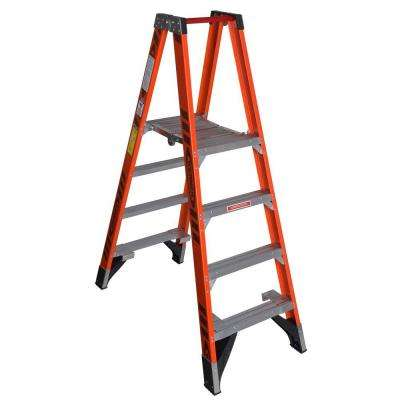 4 ft. Fiberglass Platform Step Ladder with 300 lb. Load Capacity Type IA Duty Rating