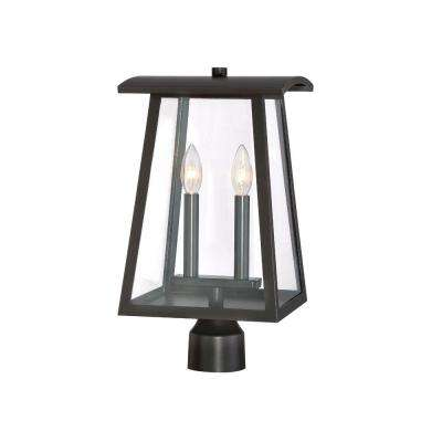 Calderwood 2-Light Burnished Bronze Outdoor Post Lantern