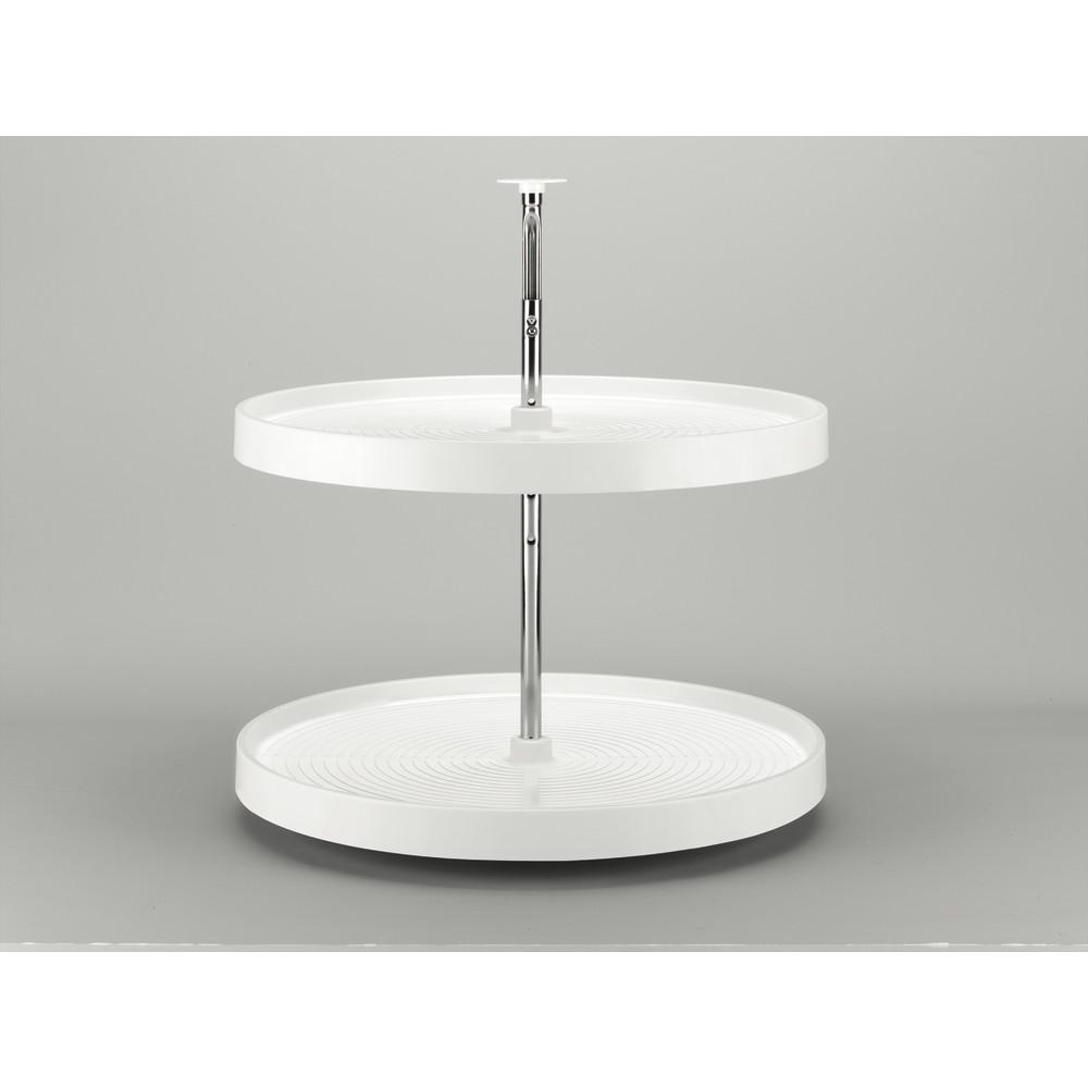 2-Shelf 28 in. Dia White Polymer Full Circle Lazy Susan
