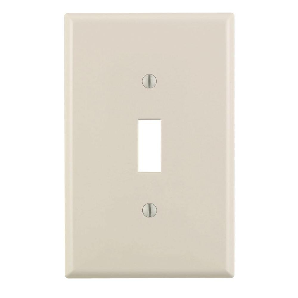Leviton 1 Gang Jumbo Toggle Wall Plate Light Almond