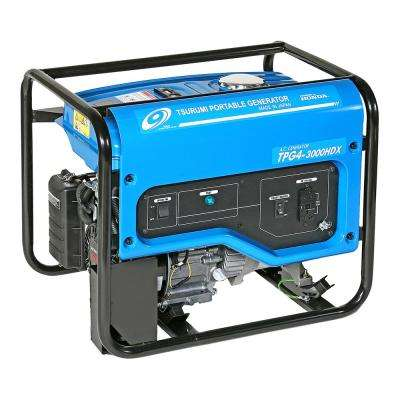 2,200 Watt Gasoline Powered Portable Blue Generator with GFCI outlet Protection and Honda GX160 Engine with Oil Alert