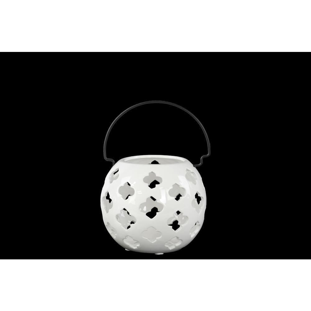 White Candle Porcelain Decorative Lantern