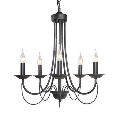 5-Light Black Mini Chandelier