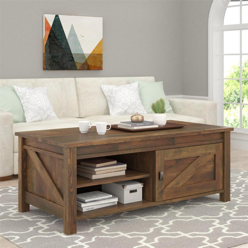 Altra Furniture Farmington Century Barn Pine Storage Coffee Table by Altra Furniture