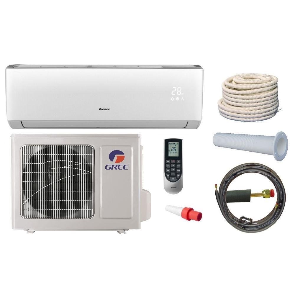 GREE Vireo 12,000 BTU 1 Ton Ductless Mini Split Air Conditioner and Heat Pump Kit - 208-230V/60Hz