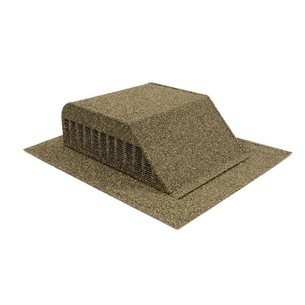 Granule-Coated Aluminum Slant Back Static Roof Vent in Weathered Wood