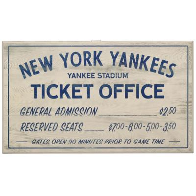 New York Yankees Vintage Ticket Office Wood Wall Decor
