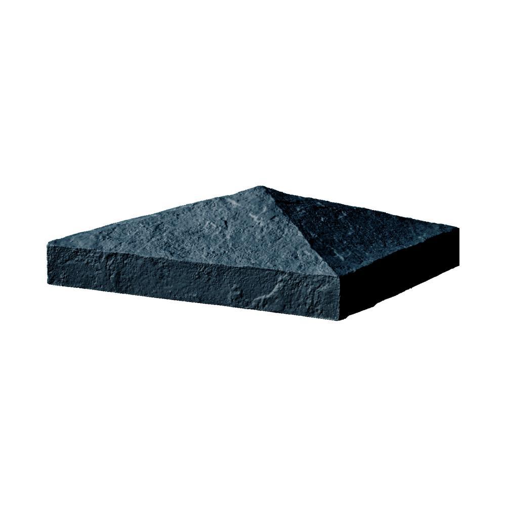 Slatestone 10.5 in. x 10.5 in. x 3.5 in. Onyx Faux Polyurethane Stone Post Cover Cap
