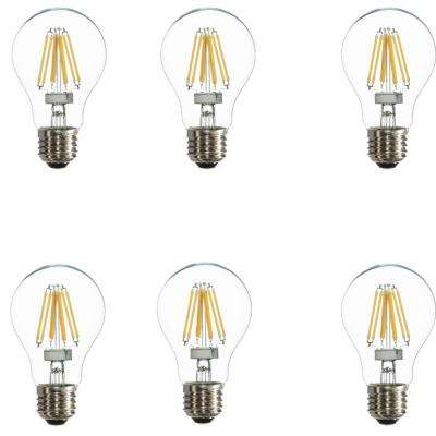 25W Equivalent Warm White A19 Dimmable LED Light Bulbs (6-Pack)