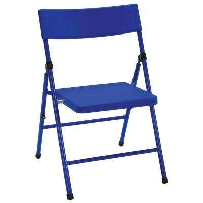 Blue Plastic Seat Kids Folding Chair (Set of 4)