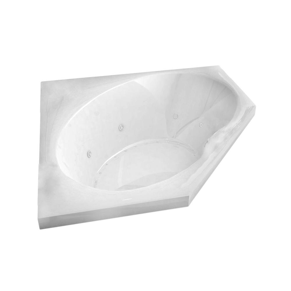 Universal Tubs Mali 5 ft. Acrylic Corner Drop-in Air and Whirlpool ...
