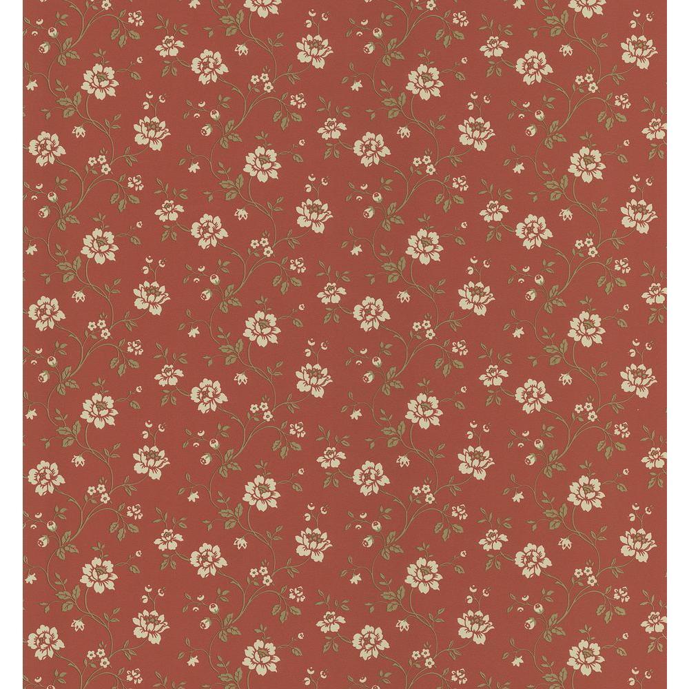 Brewster 8 in. W x 10 in. H Stencil Floral Wallpaper Sample