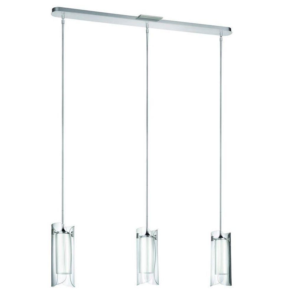 Scales 3-Light Nickel Hanging Pendant