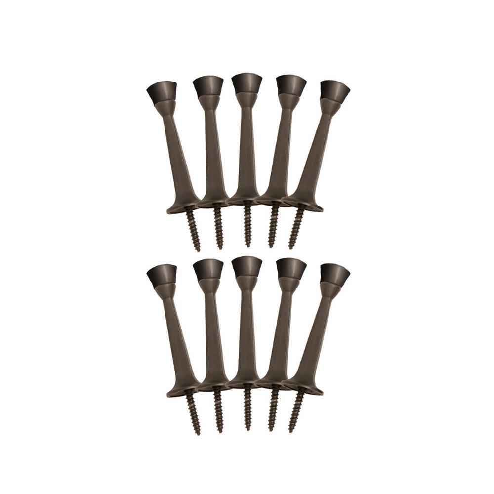 3 in. Oil Rubbed Bronze Rigid Door Stop Value Pack (10 per Pack)