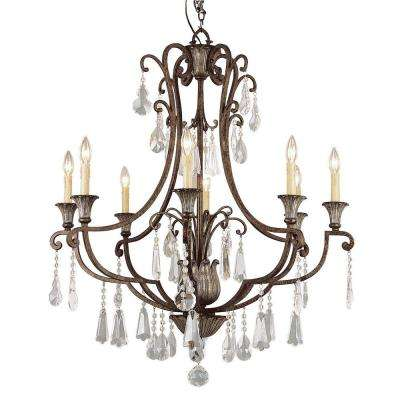 Cabernet Collection 8-Light Antique Bronze Chandelier