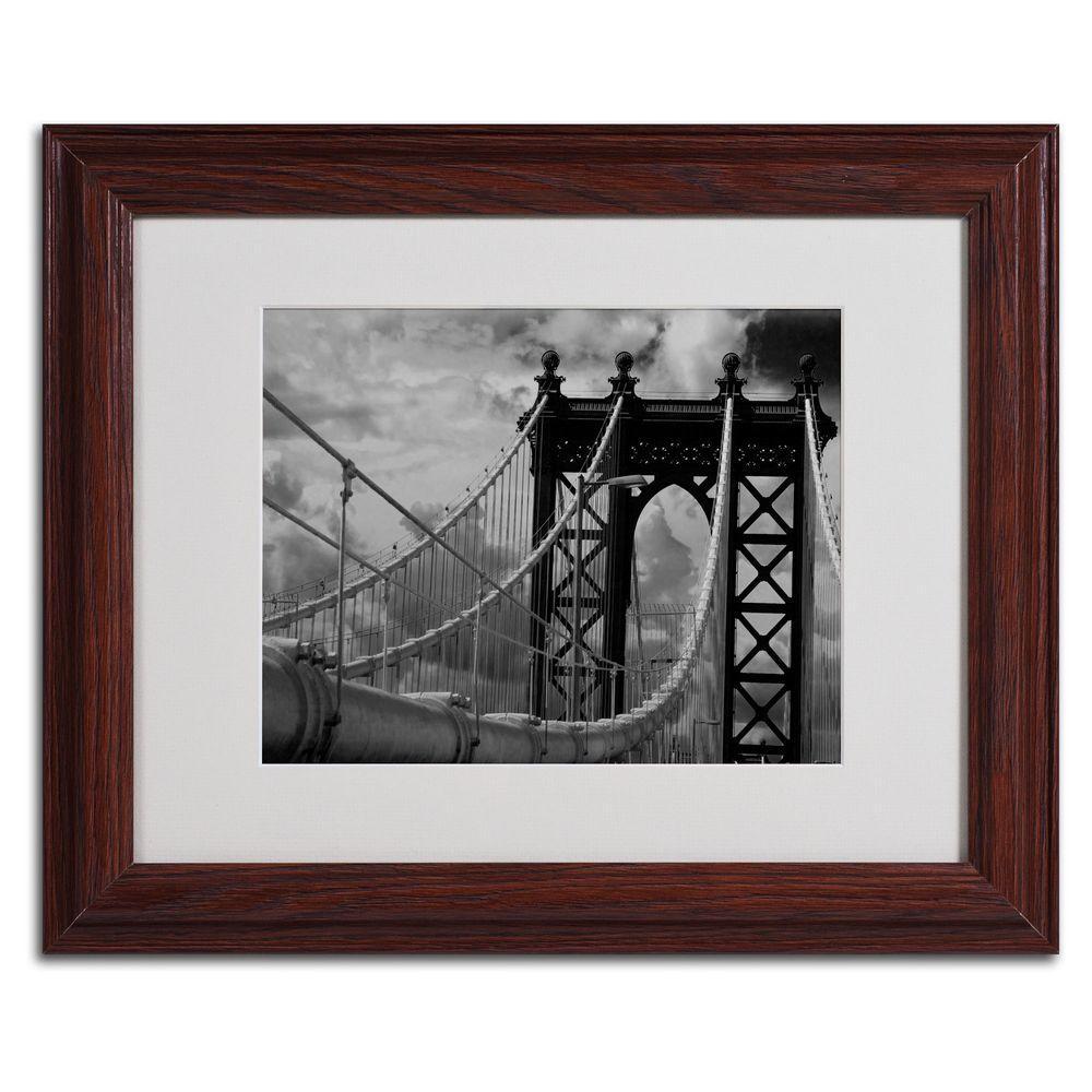 11 in. x 14 in. Manhattan Bridge Matted Framed Art