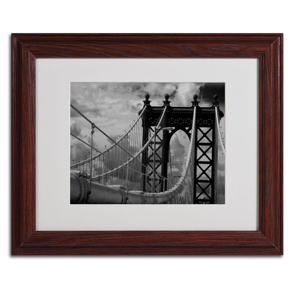 11 in. x 14 in. Manhattan Bridge Matted Framed Art