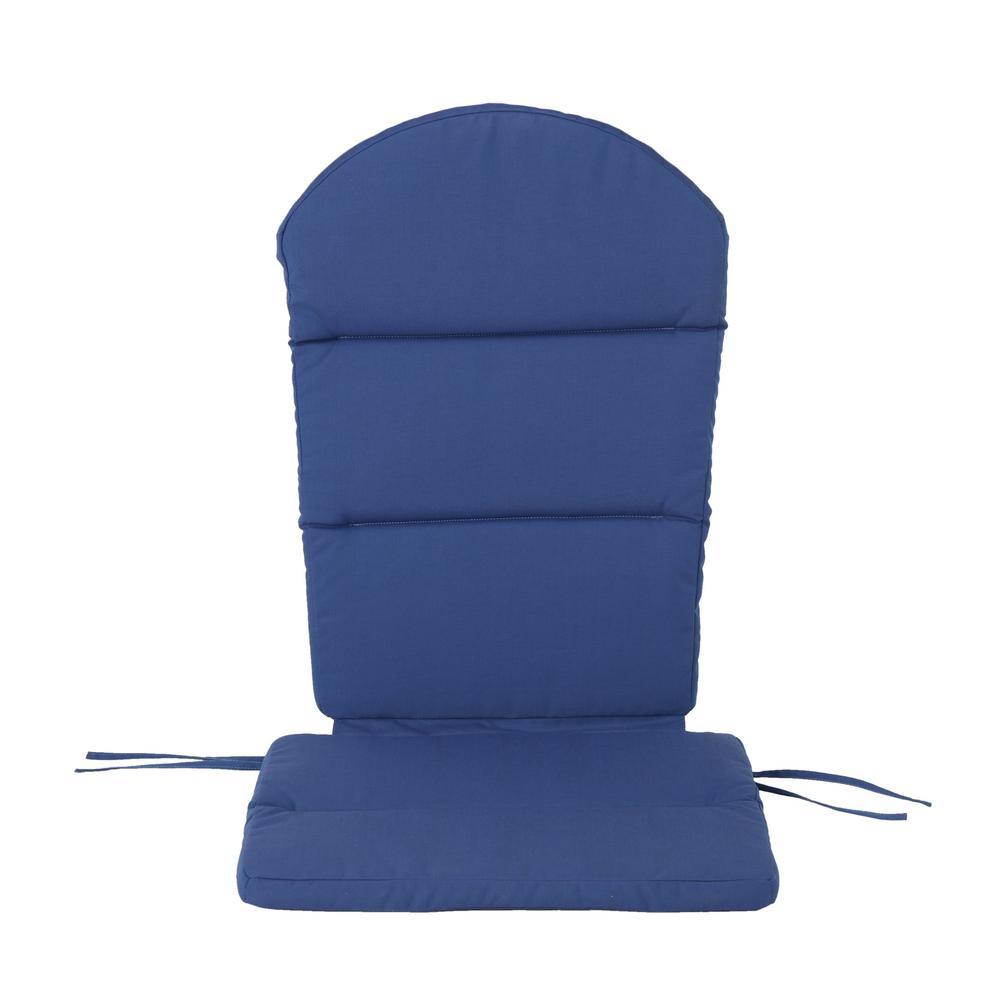 Noble House Malibu Navy Blue Outdoor Adirondack Chair Cushion 304531