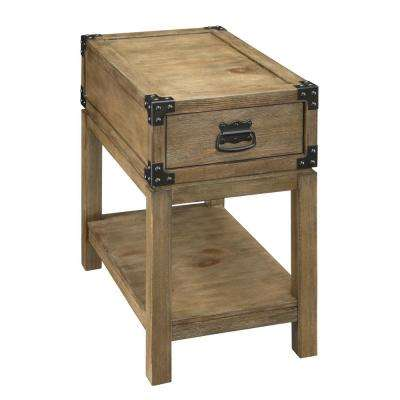 Carmel Burnished Natural 1-Drawer Chairside Table
