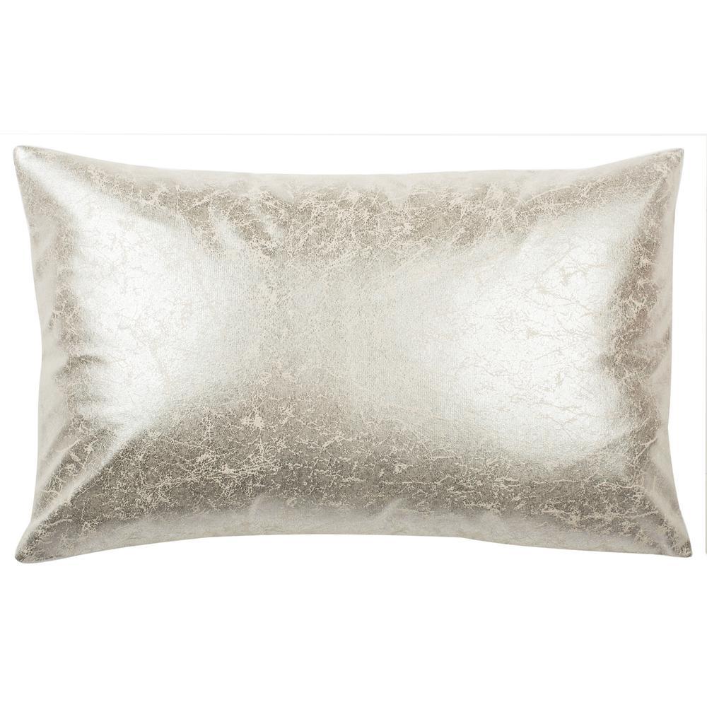 Jaxon Frost Solid Down Alternative 12 in. x 20 in. Throw Pillow
