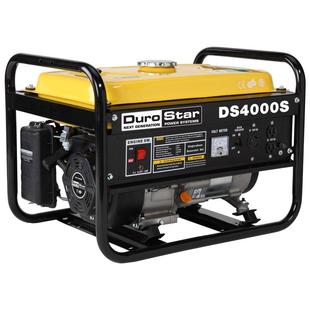 DuroStar 3300-Watt Gasoline Powered Portable Generator wi...