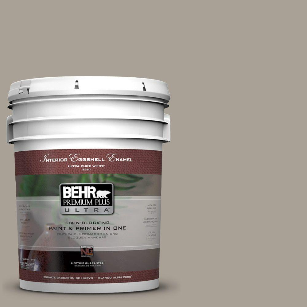 5 gal. #ECC-18-1 Quail Ridge Eggshell Enamel Interior Paint and Primer
