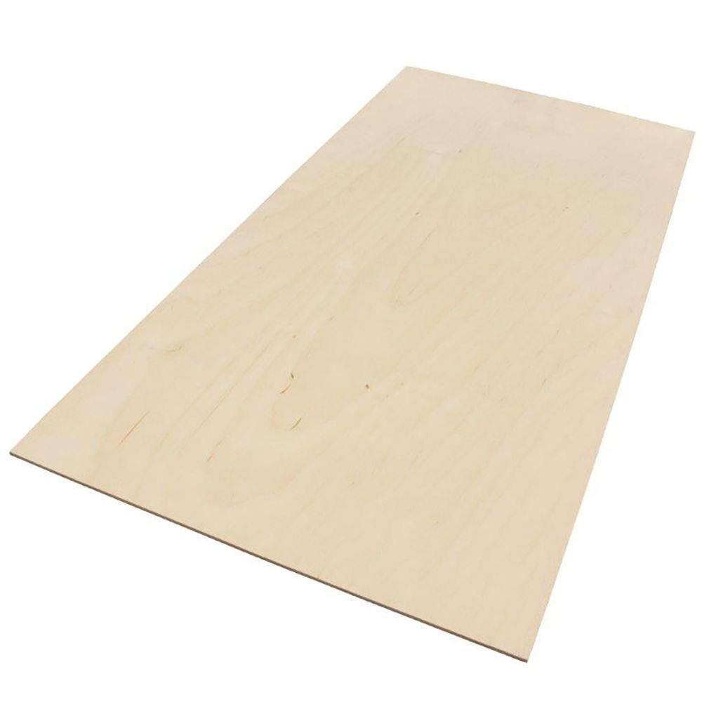 Exterior Grade Plywood Home Depot: 1/8 In. X 1 Ft. X 2 Ft. Balsam Fir Project Wood Craft