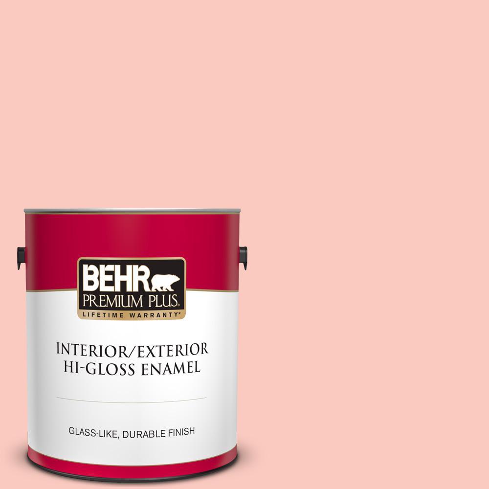 Behr Premium Plus 1 Gal 200c 3 Spring Song Hi Gloss Enamel Interior Exterior Paint 805001 The Home Depot