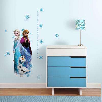 5 in. x 19 in. Frozen Elsa, Anna and Olaf 20-Piece Peel and Stick Giant Growth Chart Wall Decal
