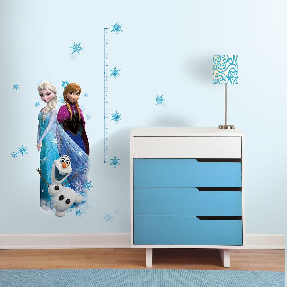 Incroyable Frozen Elsa, Anna And Olaf 20 Piece Peel And Stick Giant Growth Chart Wall  Decal RMK2793GC   The Home Depot