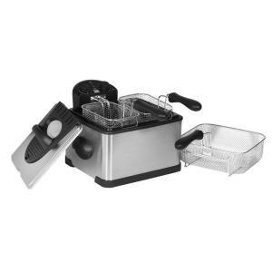 Elite 4 Qt. Deep Fryer with Dual Basket in Stainless Steel by
