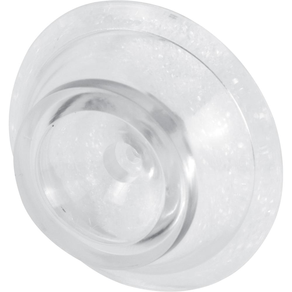 Prime Line Clear Wall Mounted Doorstops 2 Pack