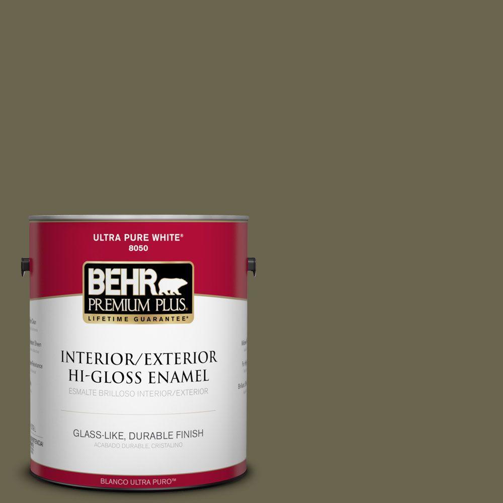 1-gal. #HDC-FL14-8 Deer Trail Hi-Gloss Enamel Interior/Exterior Paint
