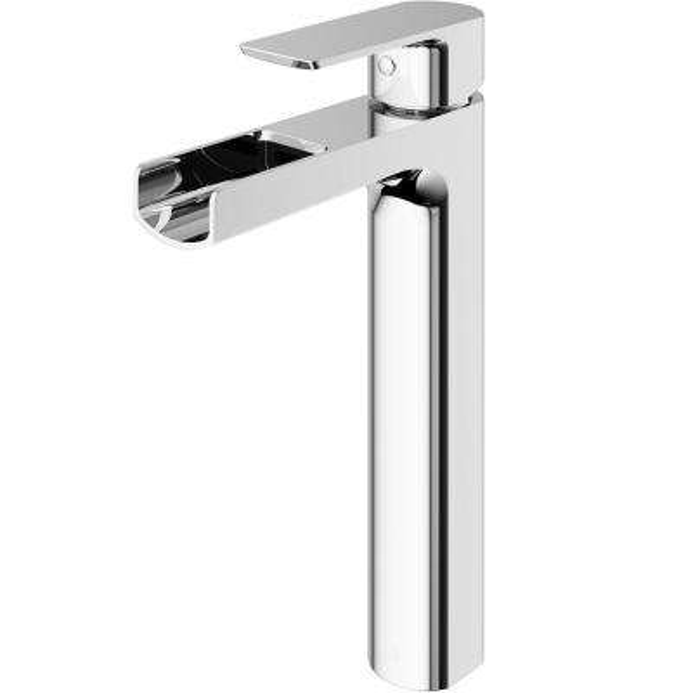 Amada Single Hole Single-Handle Vessel Bathroom Faucet in Chrome