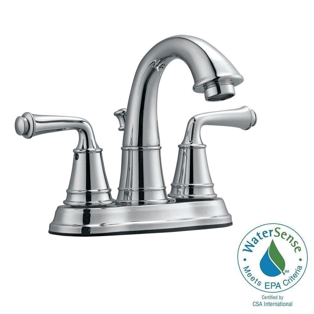 Eden 4 in. Centerset 2-Handle Bathroom Faucet in Polished Chrome