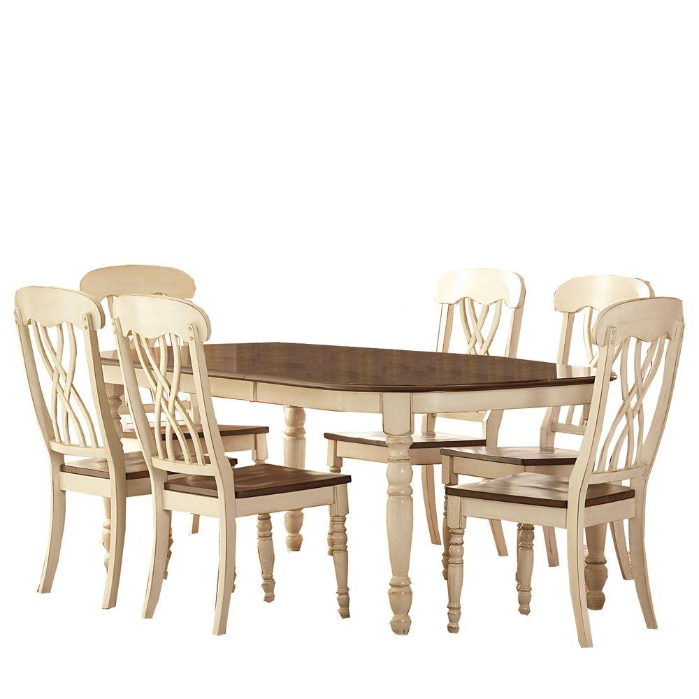 Home Decorators Collection 7-Piece Antique White Dining Set-DISCONTINUED