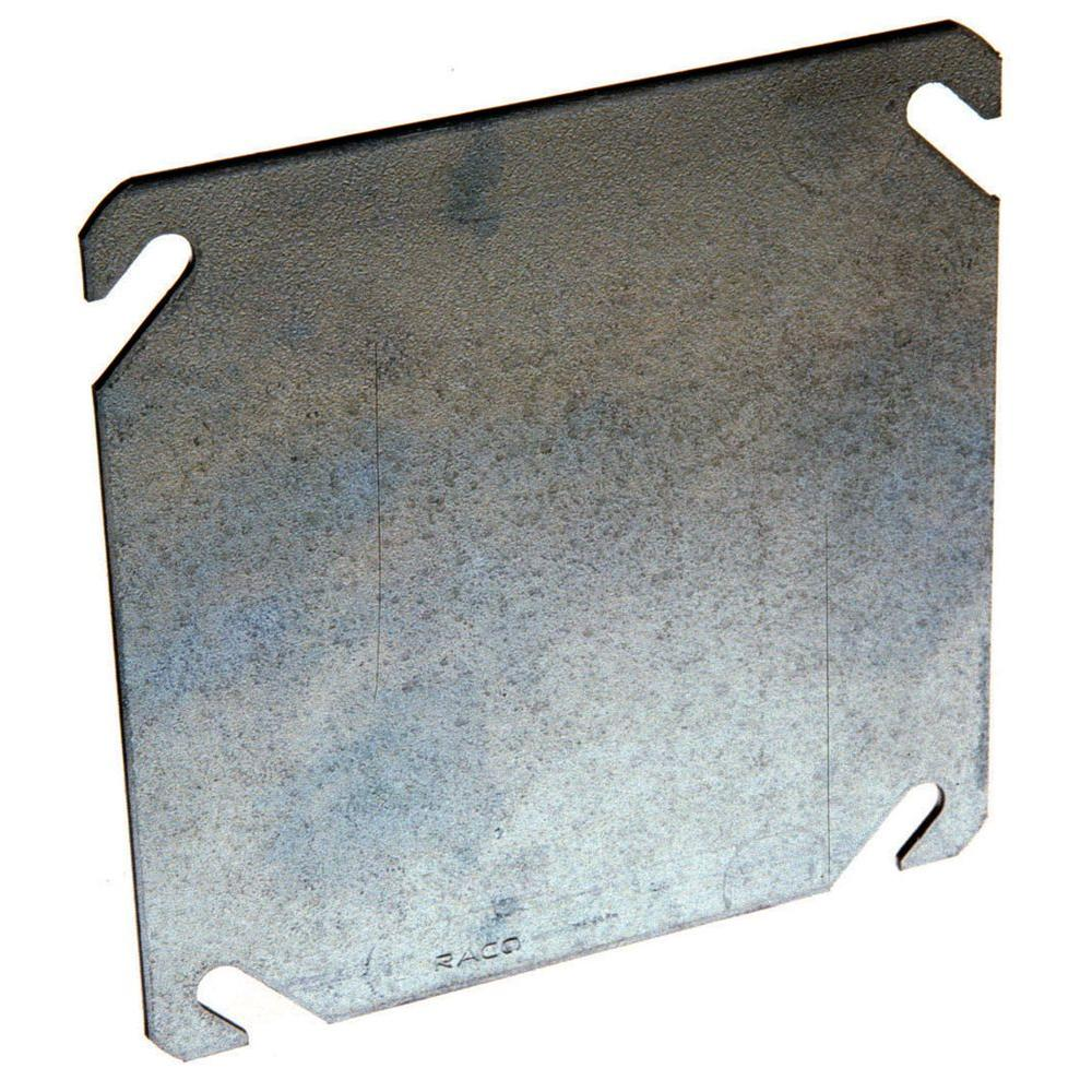 Metal Cover Plates For Electrical Impressive 4 Insquare Blank Cover Flat8752  The Home Depot Design Inspiration