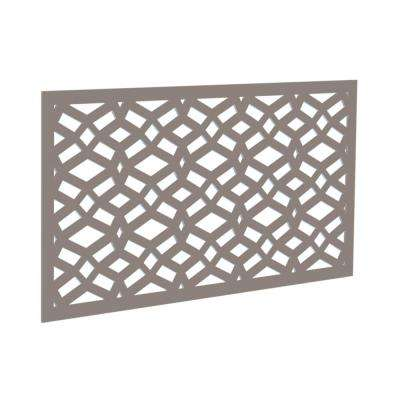 4 ft. x 2 ft. Greige Celtic Polymer Decorative Screen Panel