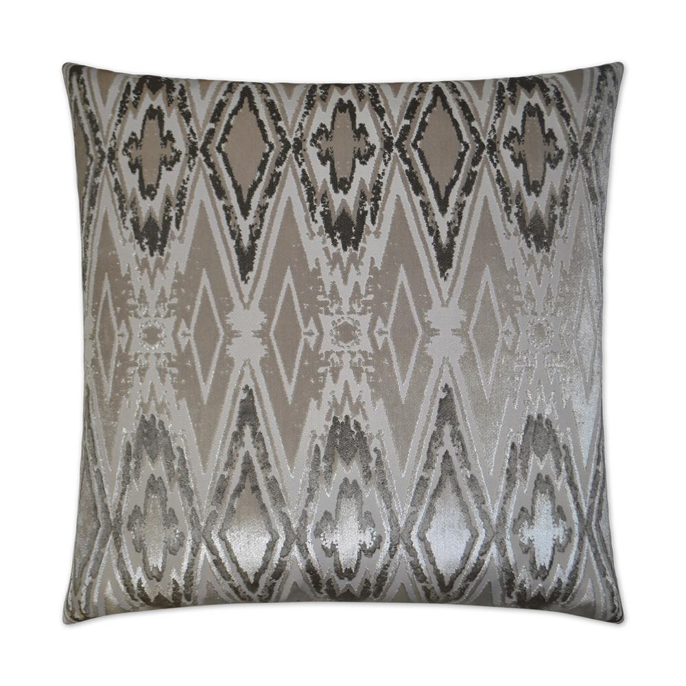 Maximus Platinum Geometric Down 24 in. x 24 in. Throw Pillow